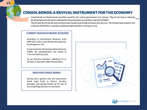 Consol Bonds: A revival Instrument for the Economy