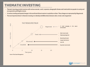 Thematic Investing: Unlike any seen before!